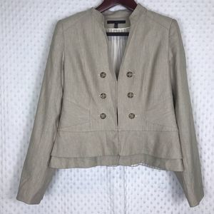White House Black Market Linen Blend Jacket